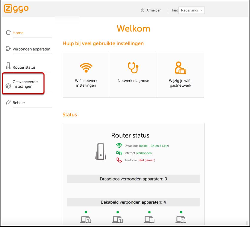 Ziggo Modem DMZ Inschakelen (Wit Modem) - Company ...